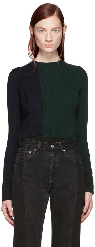 bodysuit knit navy green underwear