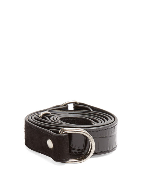 Saint Laurent belt waist belt leather suede black
