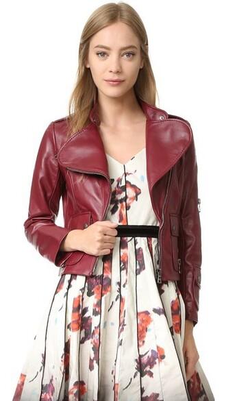 jacket leather jacket leather burgundy