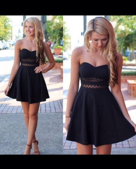 cut-out see through strapless short homecoming dress evening/homecoming dresses