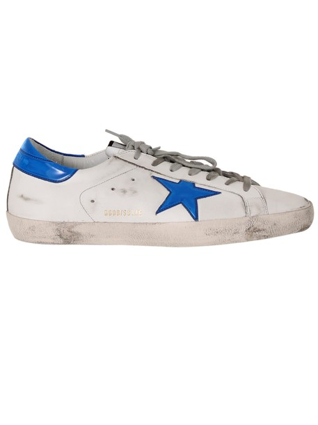 Golden goose sneakers white blue bright shoes