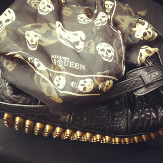bag studded bag scarf alexander mcqueen