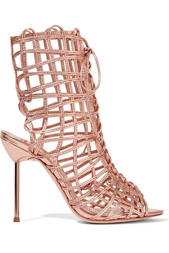 metallic sandals leather sandals leather pink shoes