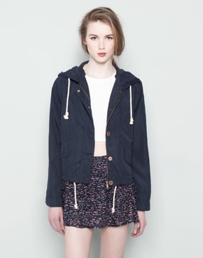 HOODED JACKET - NEW PRODUCTS - WOMAN -  PULL&BEAR United Kingdom