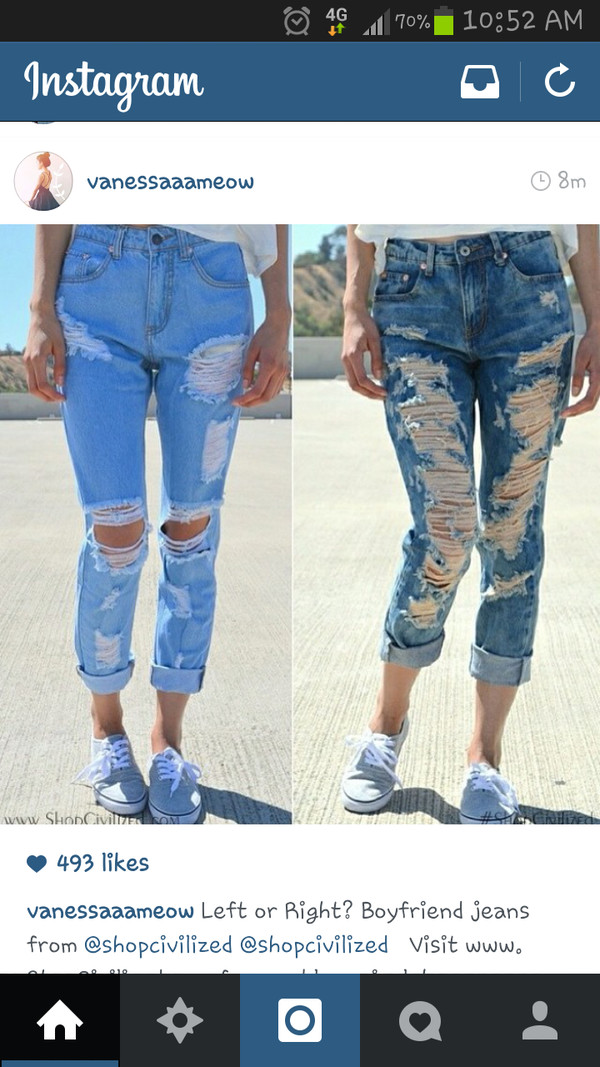 jeans boyfriend jeans denim high rise