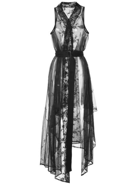 ANN DEMEULEMEESTER dress wrap dress women lace cotton wool