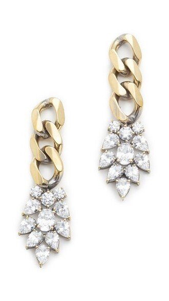 clear earrings gold jewels