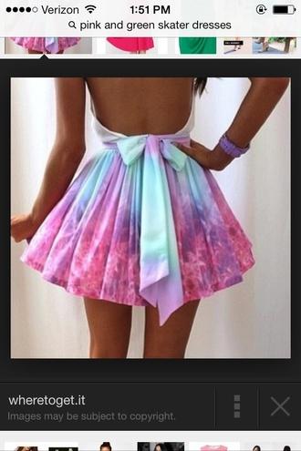 skirt pink tie dye