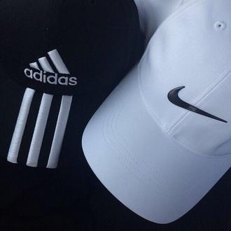 hat adidas nike cap black white