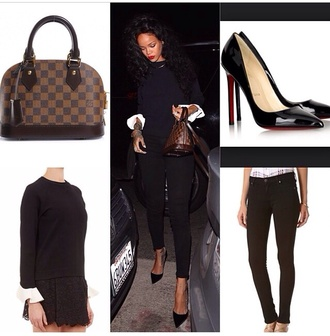 sweater black rihanna bag