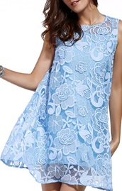dress,light blue,fashion,trendy,elegant,classy,summer,spring,lace dress,dezzal