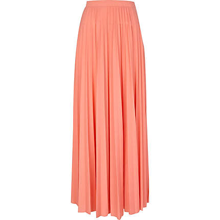 pleated maxi skirt - maxi skirts - skirts - women
