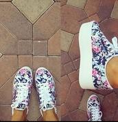 shoes,flower shoes,ariana grande,spring,trendy,withe,flowers,floral