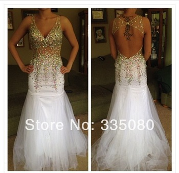 Aliexpress.com : Buy PD 314  Sweetheart Custom Made See Through Heavy Crystals Beads Fashion Prom Dresses from Reliable dress spandex suppliers on Fashion Lady's Bridal