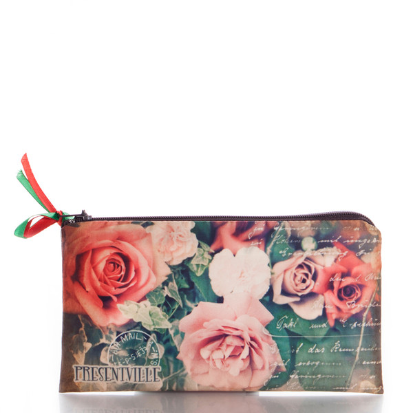 bag roses ziziztime cosmetic bag cosmetic case vintage