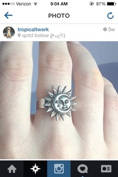 jewels,ring,moon and sun