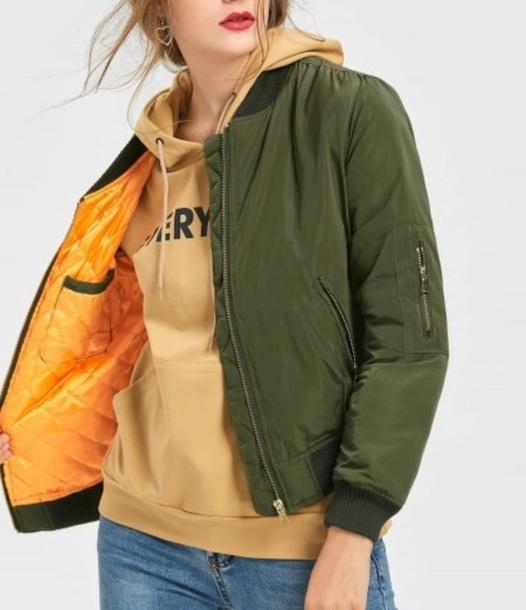 jacket girly green bomber jacket green bomber jacket orange inside