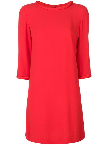 Goat dress tunic dress women red