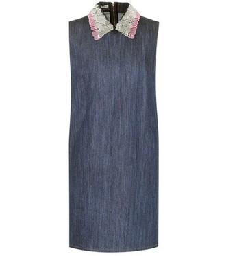 denim embellished embellished denim blue dress