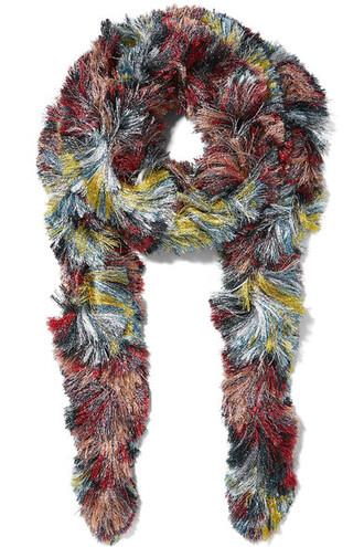 metallic scarf knitted scarf purple
