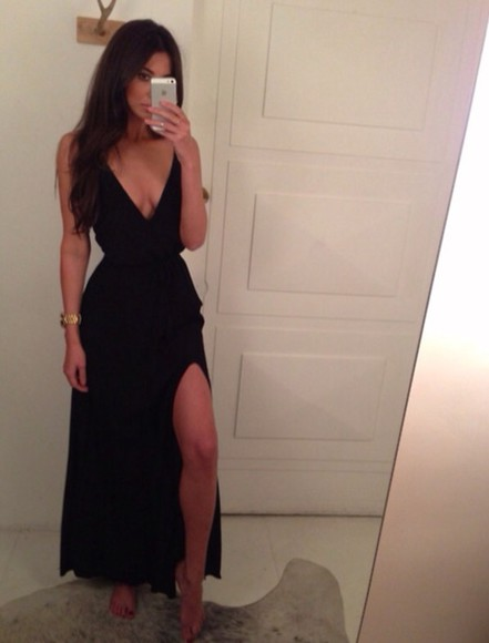 dress little black dress black black maxi dress black prom dress