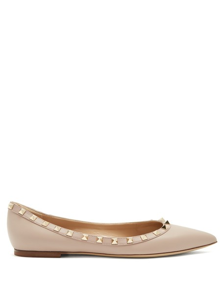 Valentino flats leather flats leather nude shoes