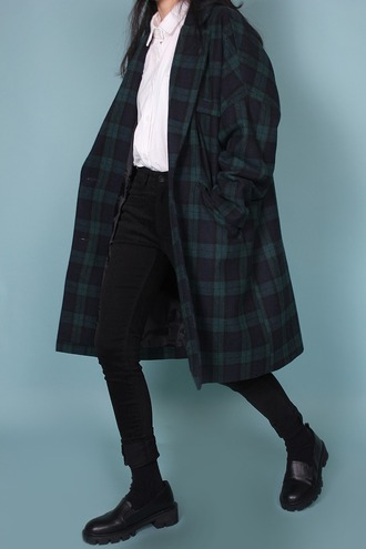 coat tartan oversized flannel