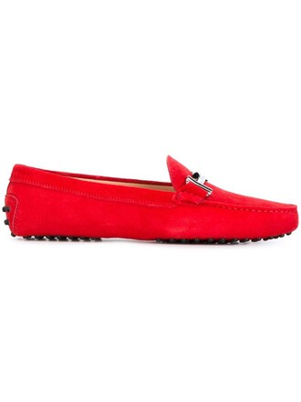 women shoes leather suede red