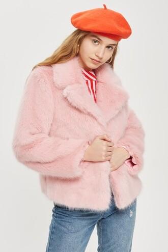 jacket faux fur jacket fur jacket fur faux fur pink