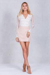 skirt,simpleeapparel,sexy,white,lace,fashion,trendy,casual,mini skirt,mini,style,chic,pink,pastel,lace up