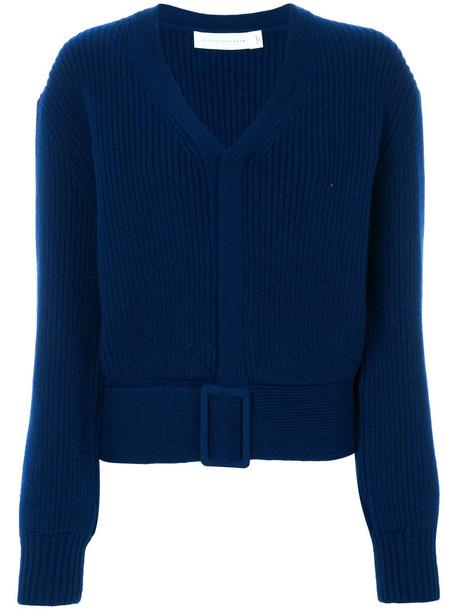 Victoria Beckham jumper women blue wool sweater