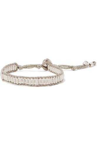 beaded bracelet beaded silver jewels