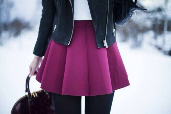 skirt red pink