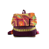 bag,kantha bags,handmade bag,multicolor,purple,backpack