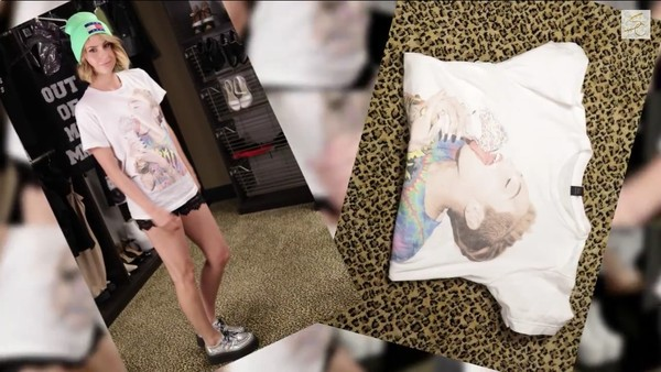 shirt miley cyrus bangerz t-shirt dress t-shirt white ice cream tongue