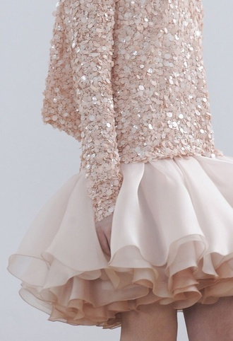 jacket rose colored jacket romantic skirt white skirt sequin jacket paillettes sweet girly sequins baby pink ruffle