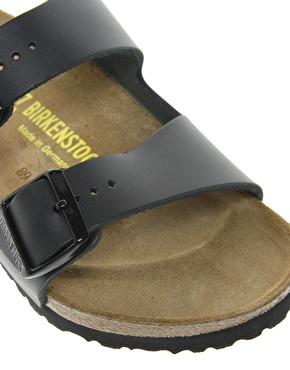 Birkenstock | Birkenstock Arizona Black Leather Two Strap Sandals at ASOS