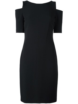dress women spandex cold black