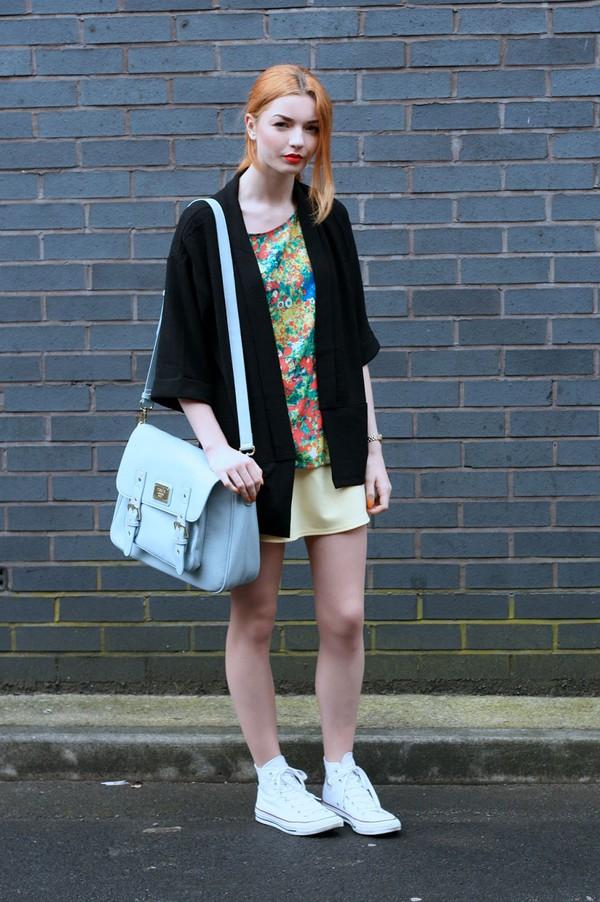 hannah louise fashion blogger jacket top bag