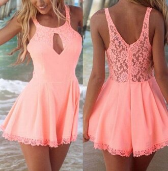 dress pink lace girly pretty