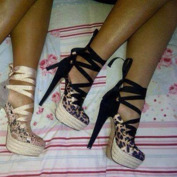 shoes lace up sandals heels shoes open toed platform high heels
