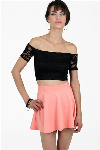 Jukebox Skater Skirt Peach