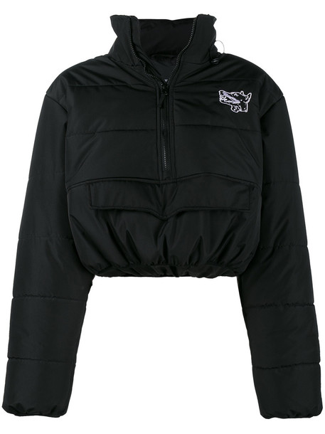 Ashley Williams jacket cropped women black