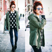 jacket,pants,coat,Khaki coat,army green jacket,army green,blouse,le happy,cute,hamsa,hamsa blouse,nice shirt,black,soft grunge,runge,style,fashion,blue pants,rock,white hamsa,sweater?,where did u get it?,sweater,what is reality anyway?,jeans,shirt,printed sweater,print,indie,grunge,sunglasses,black and white,pattern,peace,namaste,hat,dress,luanna perez,grunge shoes,creepers,winter outfits