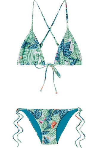 bikini triangle bikini triangle green turquoise swimwear