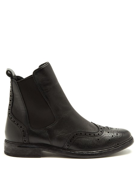 Burberry chelsea boots leather black shoes