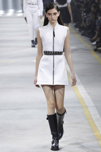 dress zip milan fashion week 2016 mini dress fashion week 2016 boots diesel