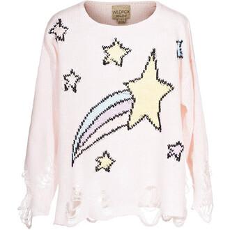 sweater wildfox pastel distressed sweater