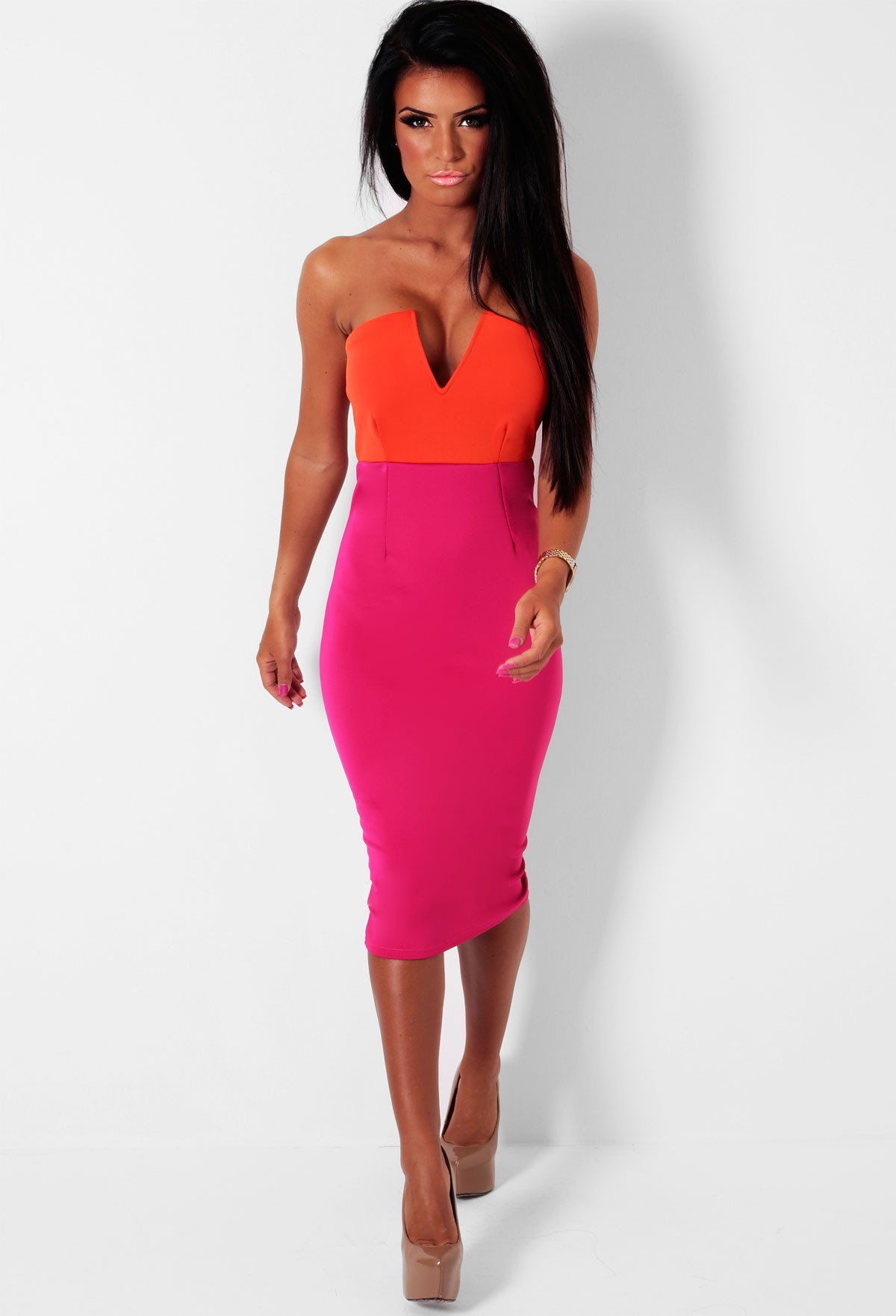 Orange And Pink Dress  Cocktail Dresses 2016