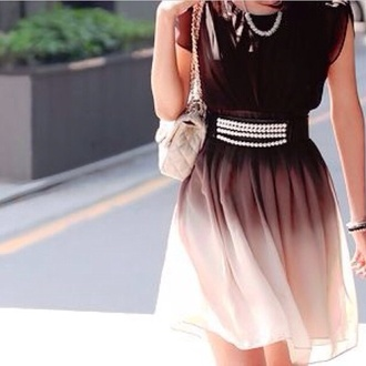 dress short dress style office outfits cute dress cream dress cute pretty dresses bag belt ombre
